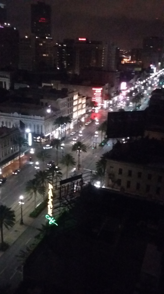 View of Canal Street from our hotel @4am - the perils of jetlag!