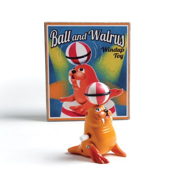 Walrus And Ball Wind Up Toy In Retro Box1454605609